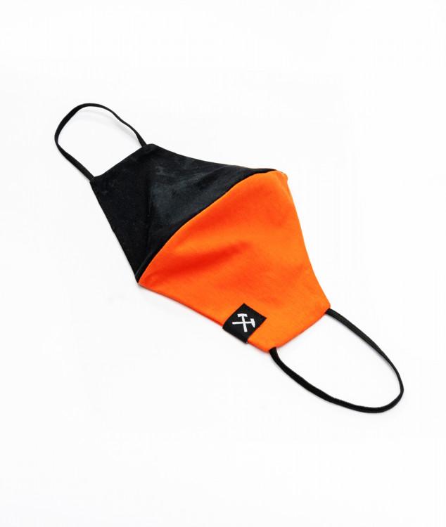 Face Mask - orange/black