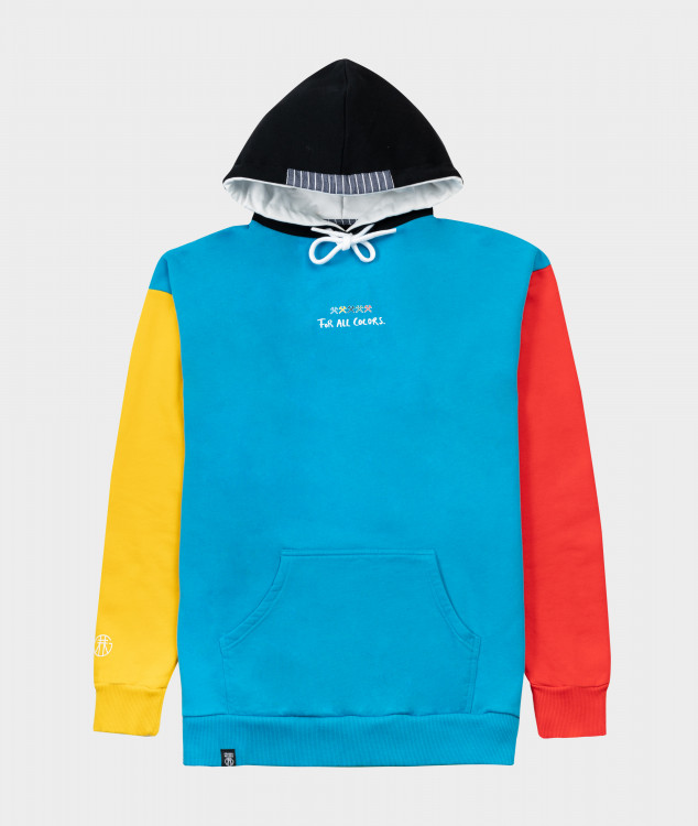 "Hoodie ""For all Colors"" - Bunt"