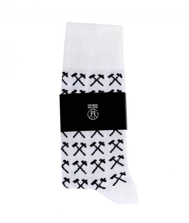 Socken Schlägel & Eisen Weiß