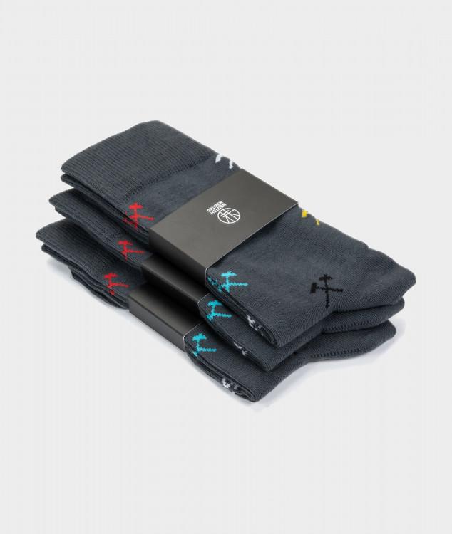 """Socken """"For all Colours"""" anthrazit - 3er Pack"""