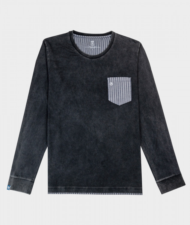 長袖Tシャツ「メラー」(チャコール)