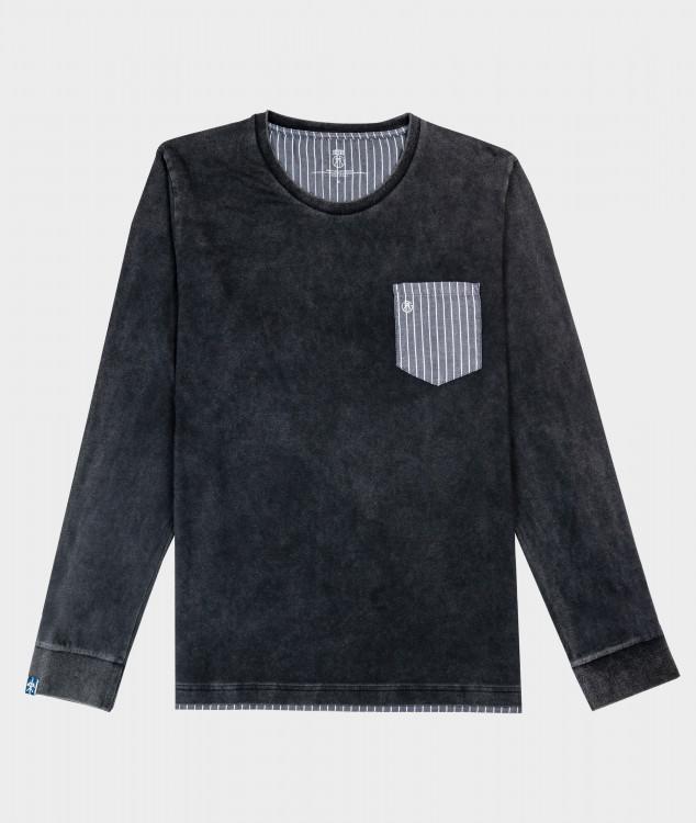 "Long Sleeve T-Shirt ""Möller"" Charcoal"