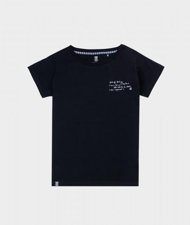 T-Shirt Frauen Steigerlied 1. Strophe Schwarz
