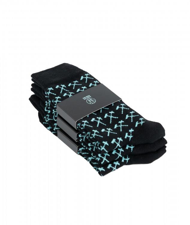 Socken Pawer - schwarz - 3er Pack