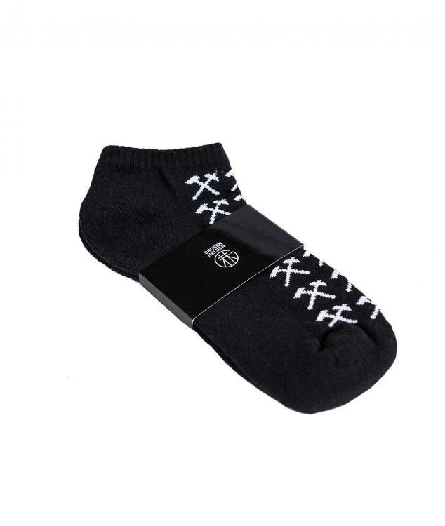 Sneaker Socken Schlägel & Eisen Schwarz