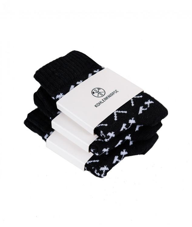 Socken Schlägel & Eisen Kohlenknirpse Schwarz - 3er Pack