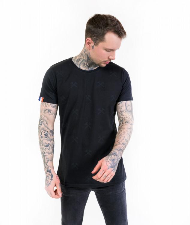 Tシャツ「ハンマー&ピック」ブラック/ブラック