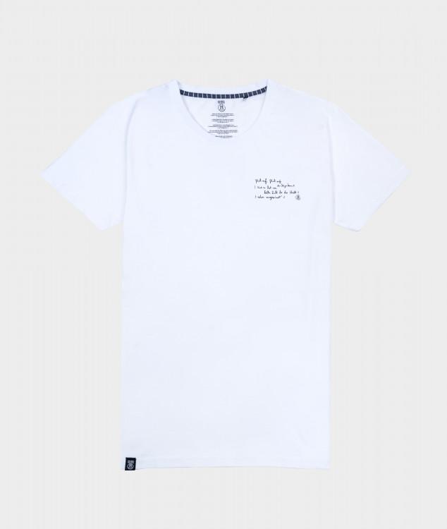 T-Shirt Männer Steigerlied 1. Strophe Weiß