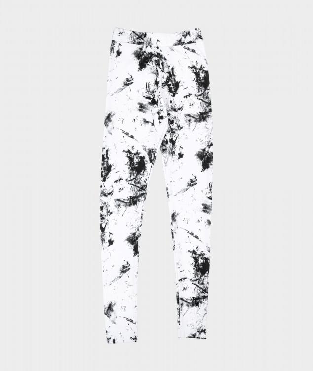 Leggings Kohle- weiss