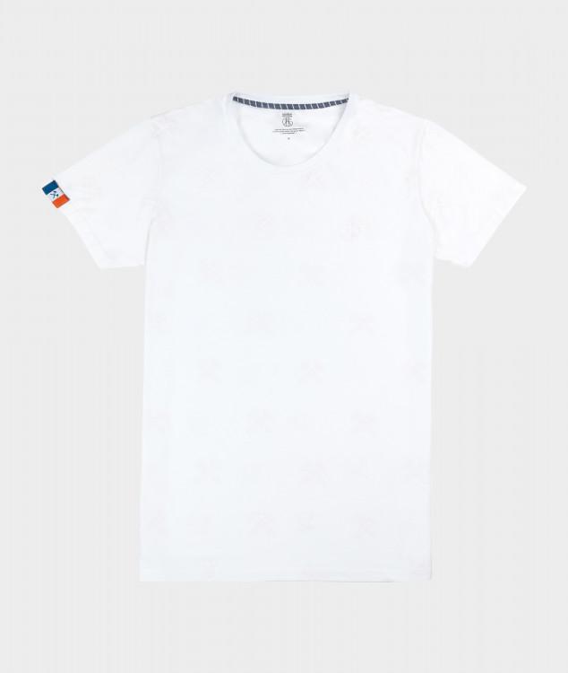 """T-Shirt """"Schlägel & Eisen"""" - Weiß/Weiß"""