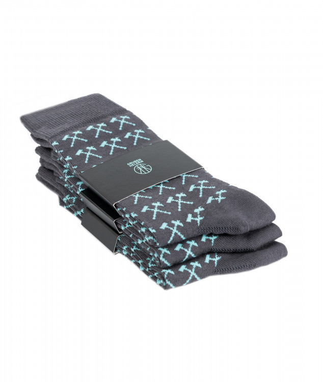 Socken Pawer Grau - 3er Pack