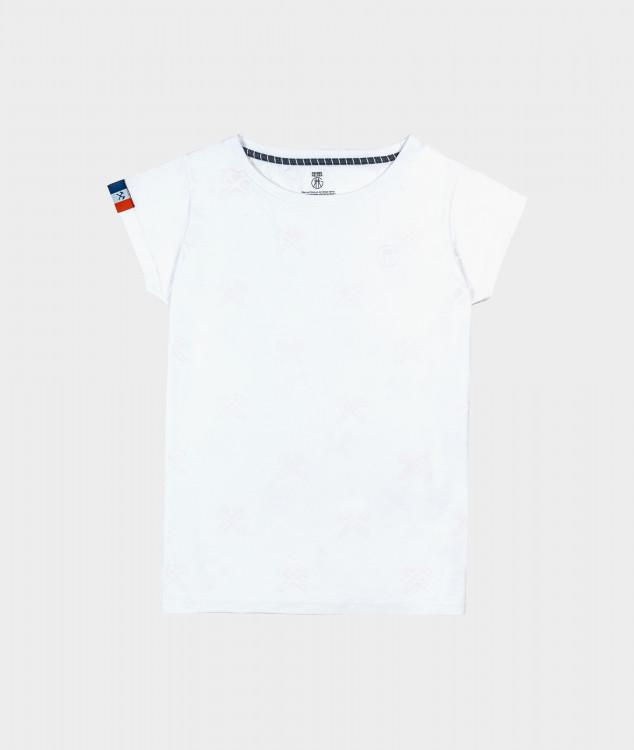 Tシャツ「ハンマー&ピック」ホワイト/ホワイト