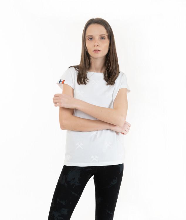 """T-Shirt """"Schlägel & Eisen"""" White/White"""