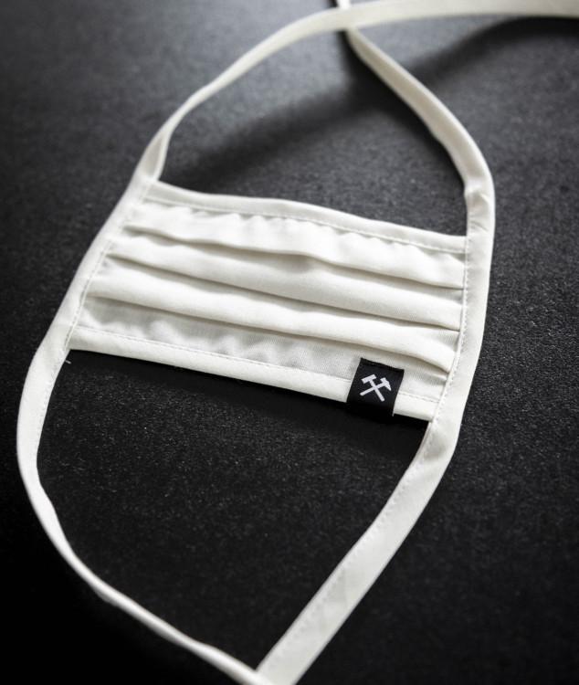 Nase-Mund-Bedeckung/Behelfsmaske - Weiss