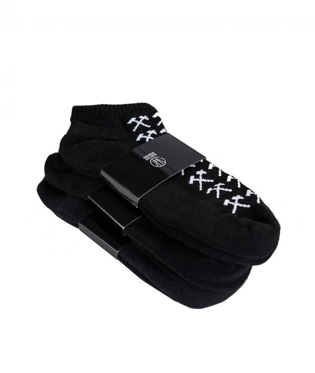Sneaker Socken Schlägel & Eisen Schwarz - 3er Pack