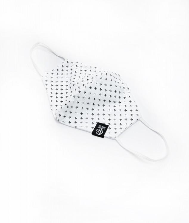 Nase-Mund-Bedeckung/Behelfsmaske - Schlägel & Eisen Weiß