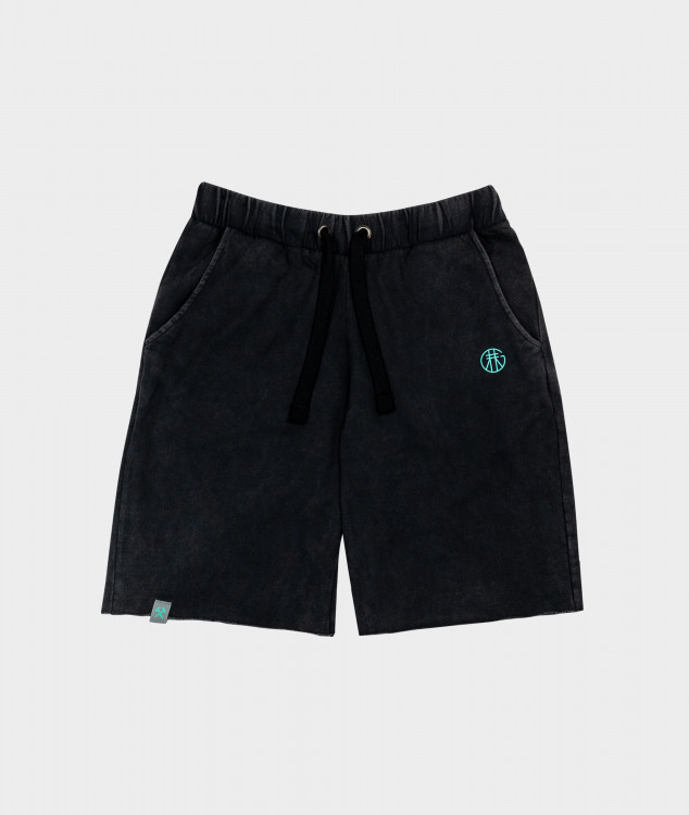 "Jogging Shorts ""Pawer"" - Kohle"