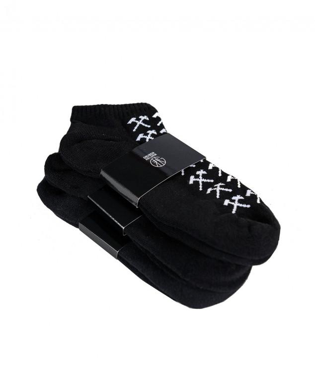 """Sneaker Socken """"Schlägel & Eisen"""" schwarz - 3er Pack"""